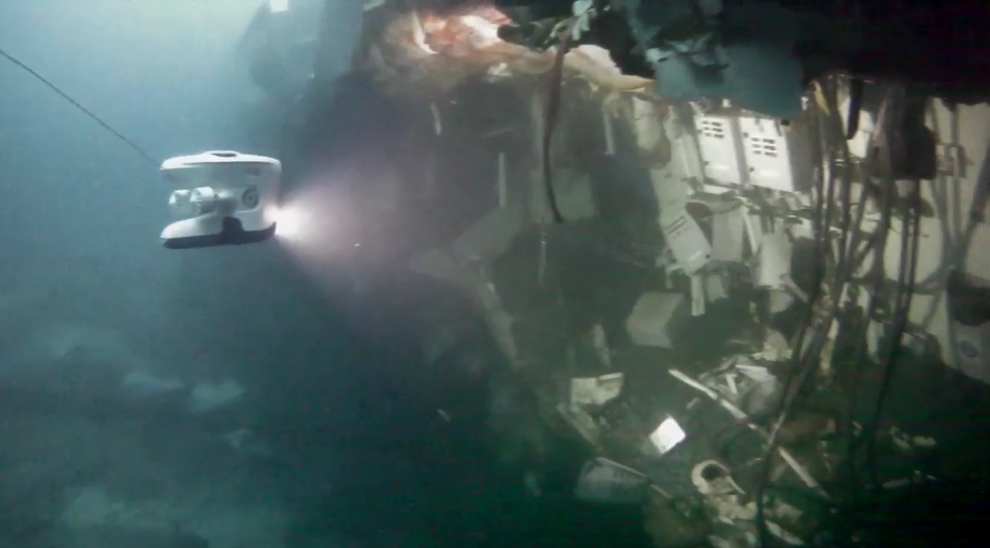 UNDERWATER IMAGE REVEALS HUGE DAMAGE TO THE NORWEGIAN FRIGATE SHATTERED THAT PARTICIPATED IN THE NATO GAMES