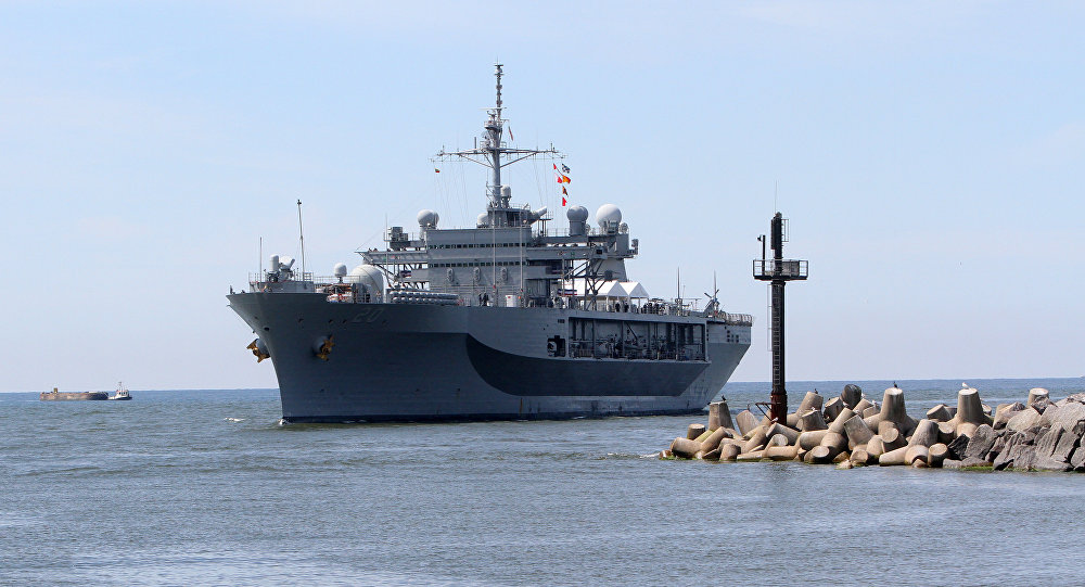 UNITED STATES NAVY WARSHIP ENTERS THE BALTIC SEA FOR EXERCISES WHILE NATO REINFORCES ITS ACTIVITIES