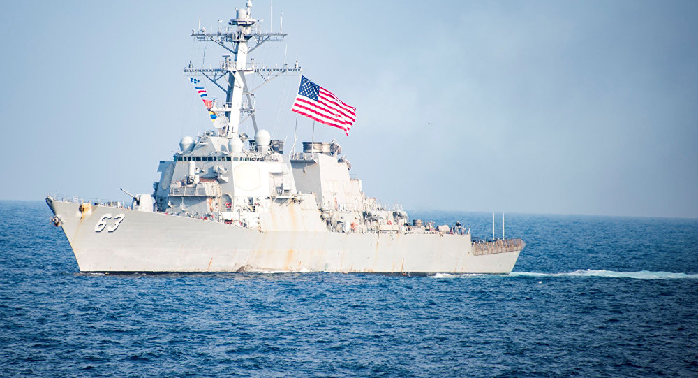 US Cap With Strips Their Warships