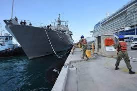 US Navy Shoreline Combat Vessel Prepares For The Next Commissioning Ceremony