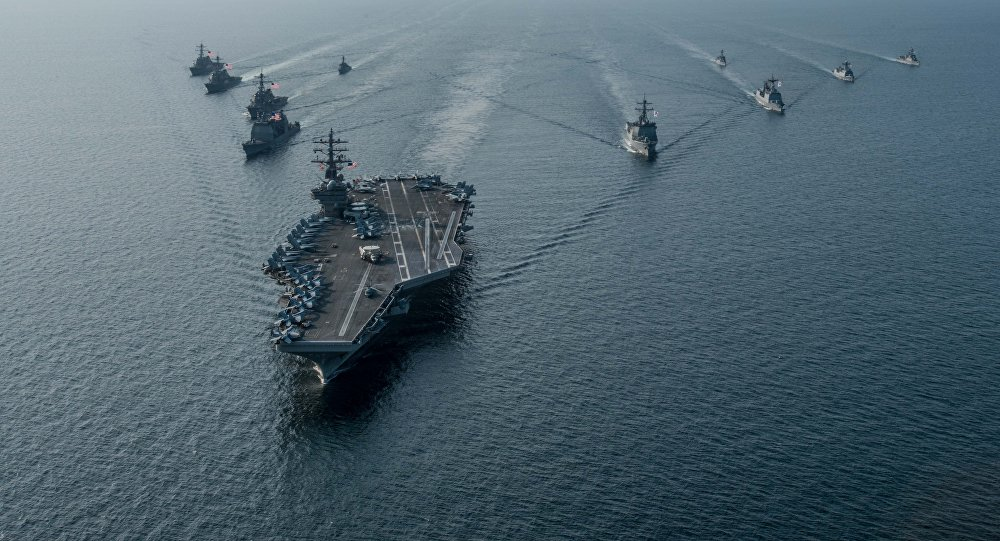 US nuclear-powered aircraft carrier wants to 'contribute to peace and prosperity' in the Pacific