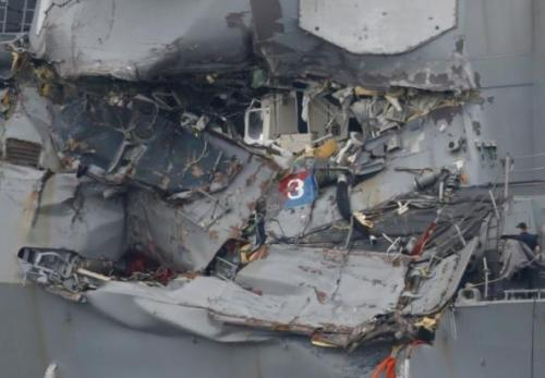 Uss Fitzergerald Was Hit When The Container Ship Was On