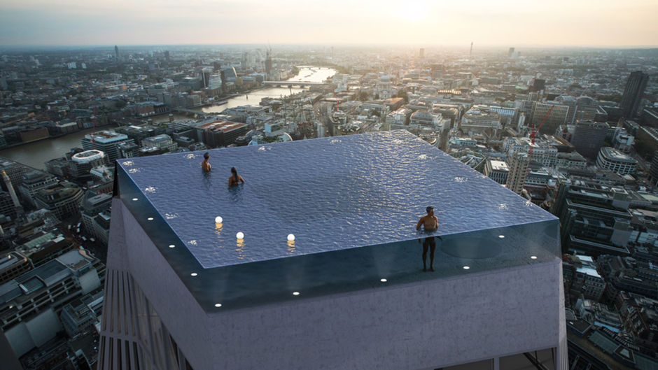 World's First Infinity Pool With 360 Degree Views Of London Is Somewhat Terrifying