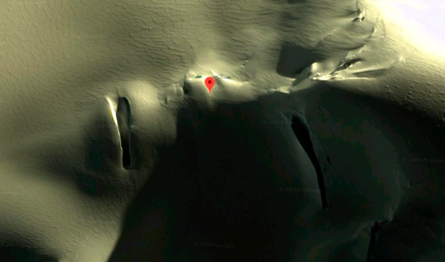Zooms In With Google Maps In Antarctica And Discovers Terrifying 'Human Face'