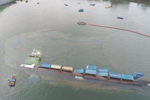 container ship capsize