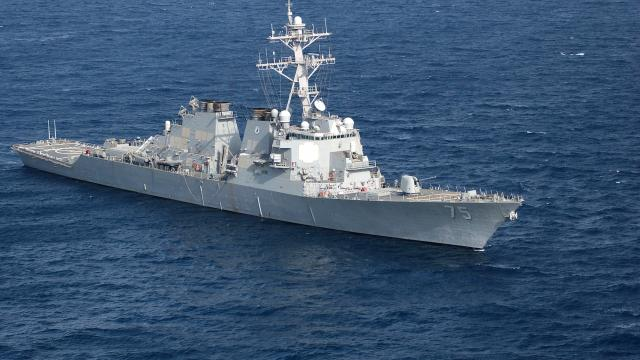 destroyer USS Donald Cook of the US Navy