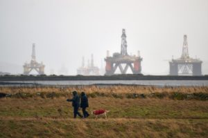 offshore workers in North Sea
